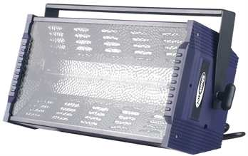 Titan Strobe 1500W  1500W-DMX-Megastrobe. Dimmbar über Controller. Blitzregler: 1-15 Blitze/Sek. Lampe inklusiv: Bestell-Nr.: 80603 / 82960
