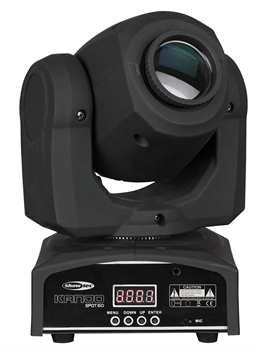 Kanjo Spot 60 Movinghead mit 60 Watt LED  Aus dem Hause Showtec: Kanjo Spot 60 ein ultrakkleiner toller Moving Head mit 60 Watt Power LED. Das Gerät hat eine Farb-, und Goborad; projiziert scharfe Gobos, intensive Farben zu einem Wahnsinns-Preis.