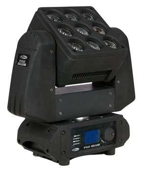 PXO Beam RGBW  - Kontinuierliche Pan/Tilt-Drehung - Schnelle Bewegungen - 8°-Optik - RGBW-Pixelsteuerung  Der PXO Beam ist ein innovativer Moving Head, der durch seine unbegrenzte Pan- und Tilt-Rotation unendlich viel kreativen Freiraum bietet.