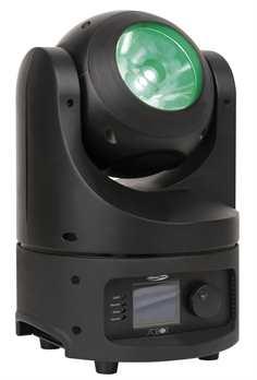 Saber Beam Movinghead mit 60 Watt Led  Aus dem Hause Showtec: Saber Beam Movinghead; ein kleiner runder Moving Head mit beleuchteter 94mm Linse mit einem Abstrahlungswinkel von nur 4hierdurch können die Strahlen extrem dünn erzeugt werden. Dem Ge