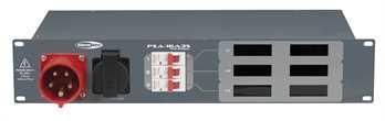 PSA-16A3S 5pol. CEE auf 6x Schuko  Von der Showtec PSA Stromverteilerserie, der 16 Ampere Verteiler mit 1x 16 Ampere CEE Eingang auf eine Verteilung von 7x 16 Ampere Schukodosen. Schützen Sie Ihr Equipment durch die modernen Stromverteiler von Sh