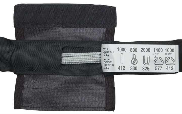 showtec steel sling 2000 kg 1 m sling with steelw g nstig. Black Bedroom Furniture Sets. Home Design Ideas