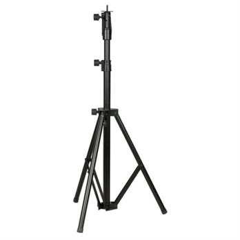 Followspot stand 1346 - 2040mm  Max. Last: 20 kg Min. Höhe: 1346 mm Max. Höhe: 2040 mm Boden: 980 mm Einsteckdurchmesser: 28 mm (Standard TV-Zapfen) Gewicht: 7 kg