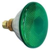 Par 38 E27 Flood Showtec 240V 90W, Grün  240V 90W, Grün Farbe: Grün Spannung: 240V Watt: 100W Lebensdauer/Std.: 1000 Verpackungsgröße: 12 Strahl: Flood Lichtwinkel: 30° Lampenfassung: E27