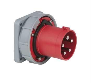 PCE CEE 63A 400V 5pol. Einbaustecker rot, IP67